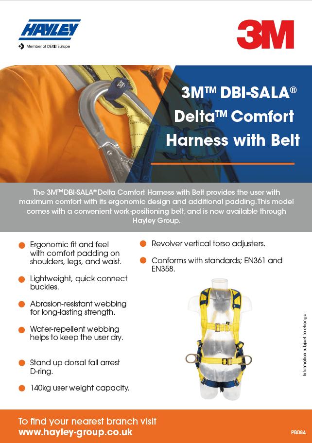3M DBI SALA Delta Comfort Harness With Belt product bulletin
