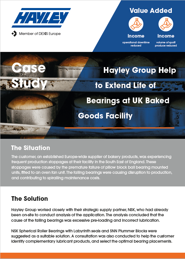 bearings at bakery case study