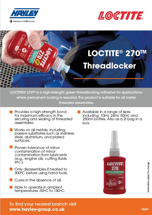 LOCTITE 270 Product Bulletin