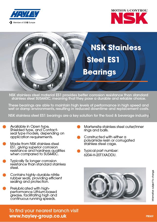 NSK Stainless Steel ES1 Bearings