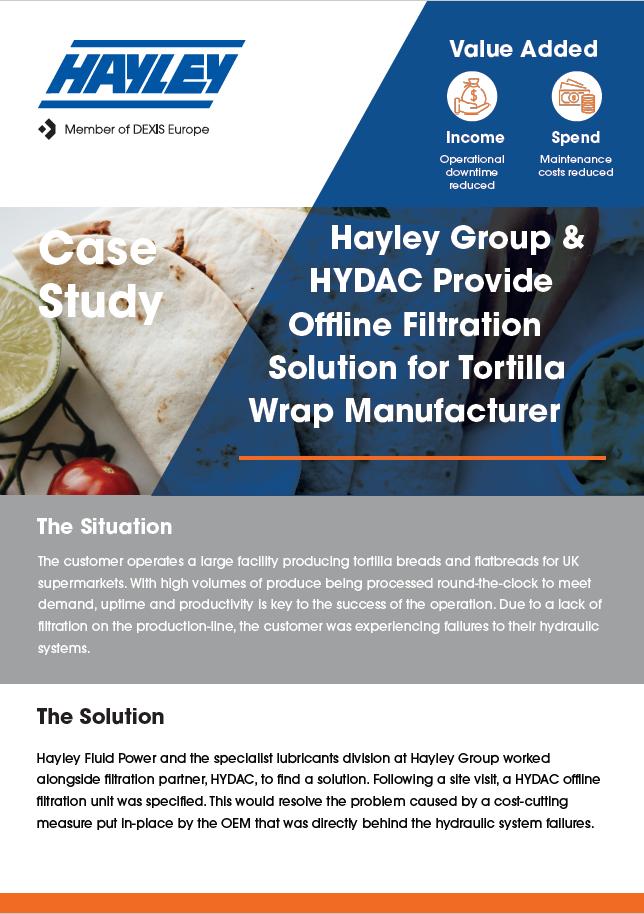 Case Study Hydac Hayley Torilla Wrap Manufacturer
