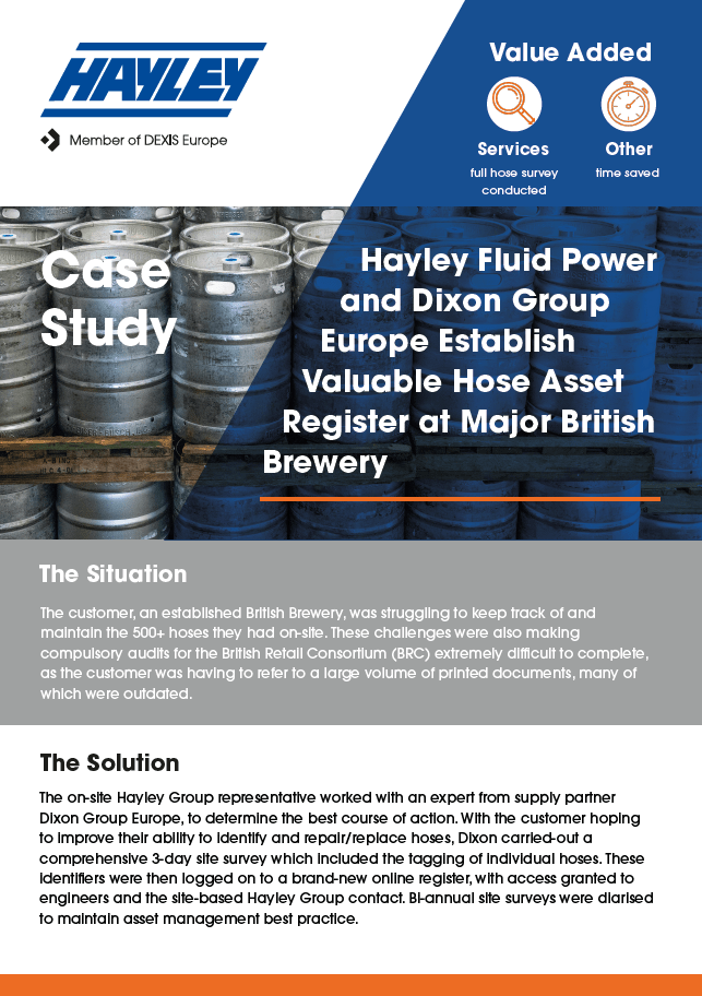 Hayley Fluid Power And Dixon Brewery Case Study