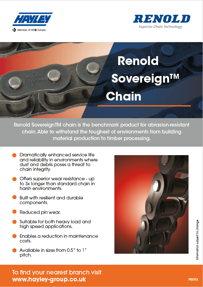 Renold Sovereign Chain Product Bulletin