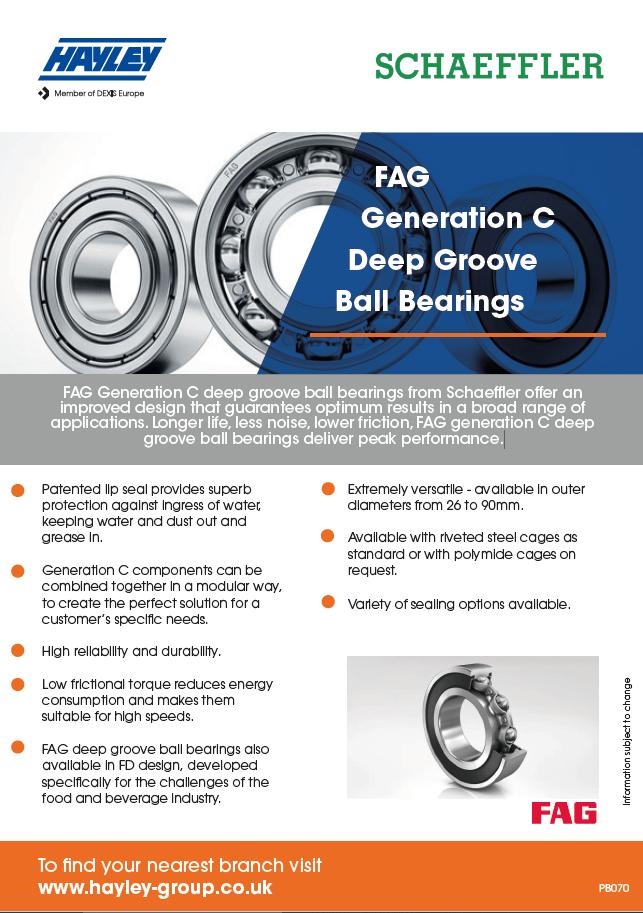 FAG Generation C Deep Groove Ball Bearings