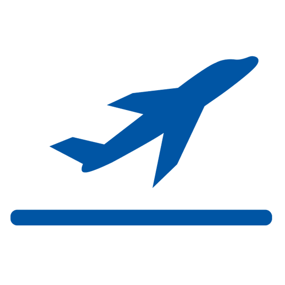export logo airplane