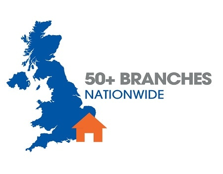 Hayley 50+ Branches UK Map
