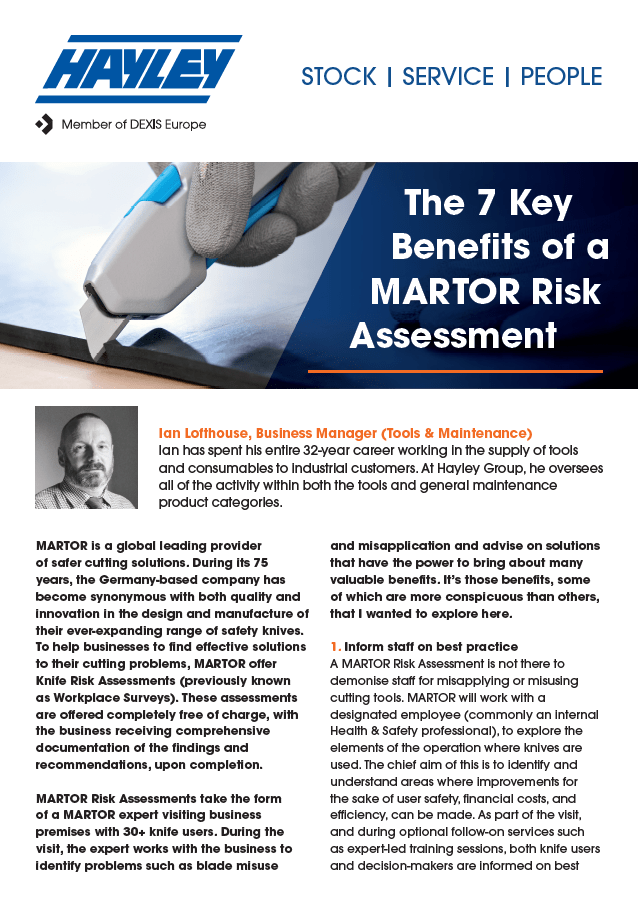 7 Key Benefits Of A MARTOR Risk Assessment