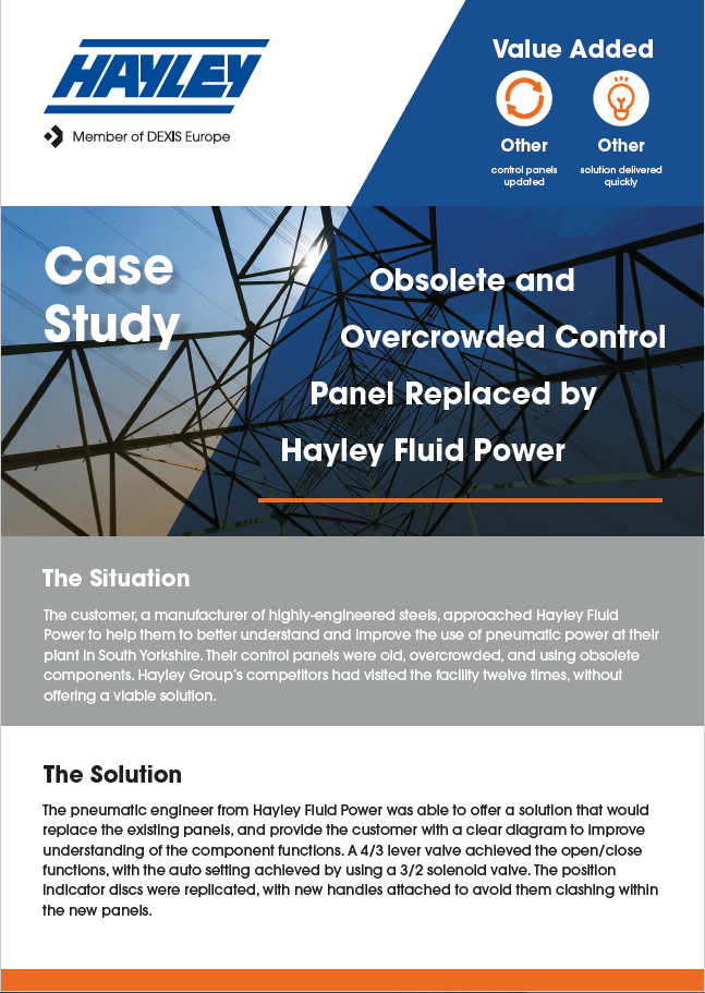 Control Panel Replaced case study