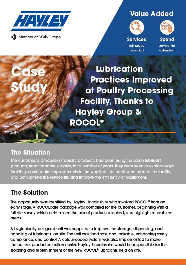 ROCOL lubrication practices case study