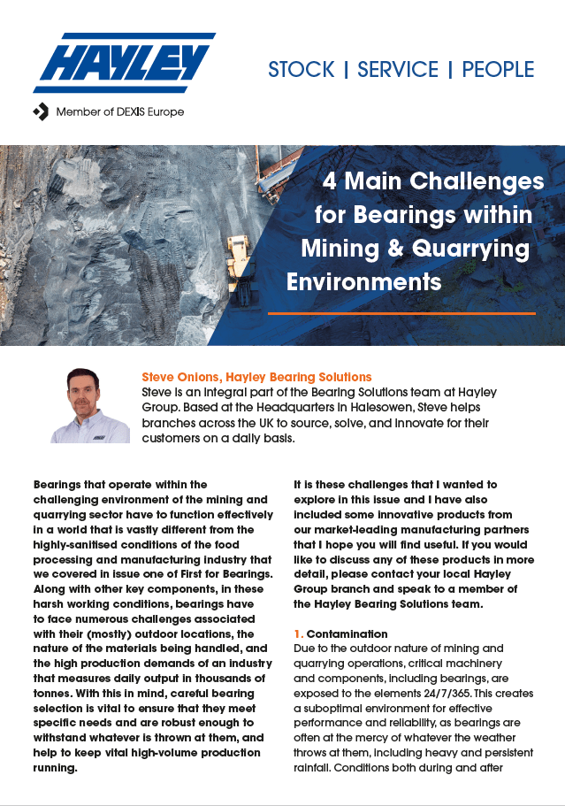 4 Challenges For Bearings In Mining & Quarrying Discussion