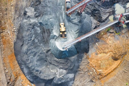 quarrying in progress