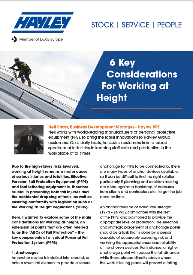height safety discussion
