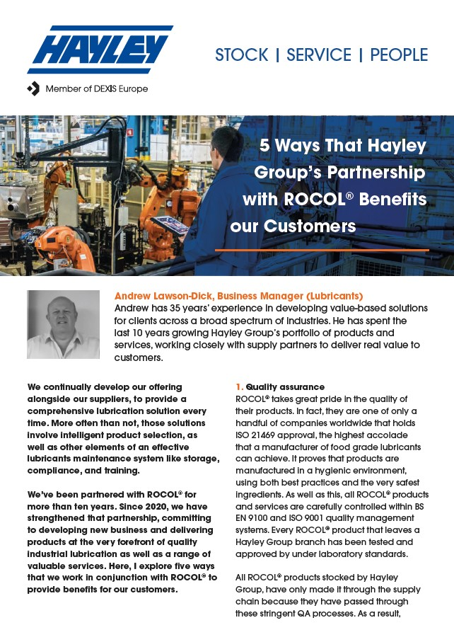 5 Ways That Hayley Group's Partnership With ROCOL Benefits Our Customers