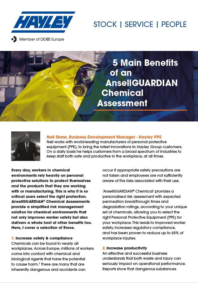 5 Main Benefits Of An AnsellGUARDIAN Chemical Assessment