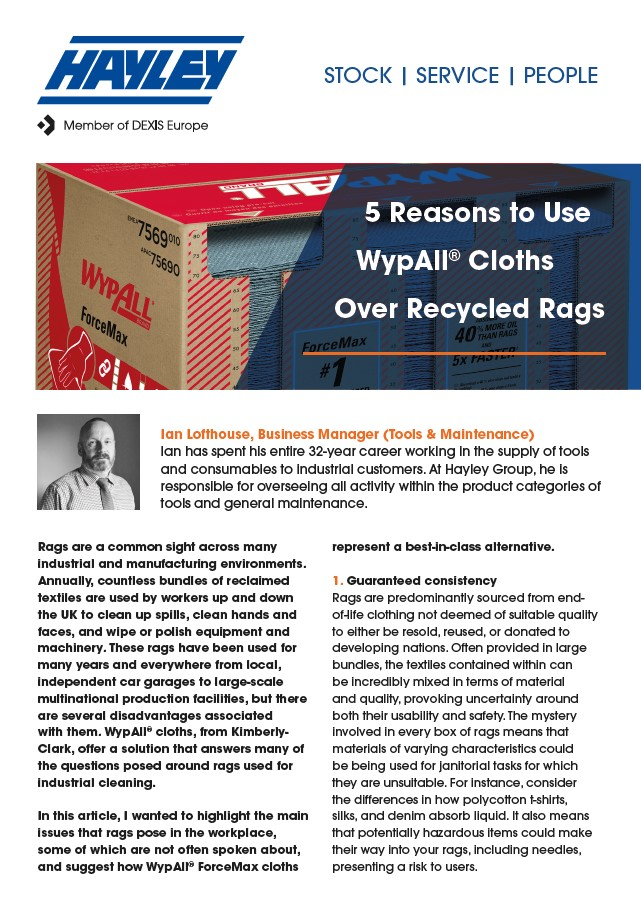 5 Reasons To Use Wypall Cloths Over Recycled Rags