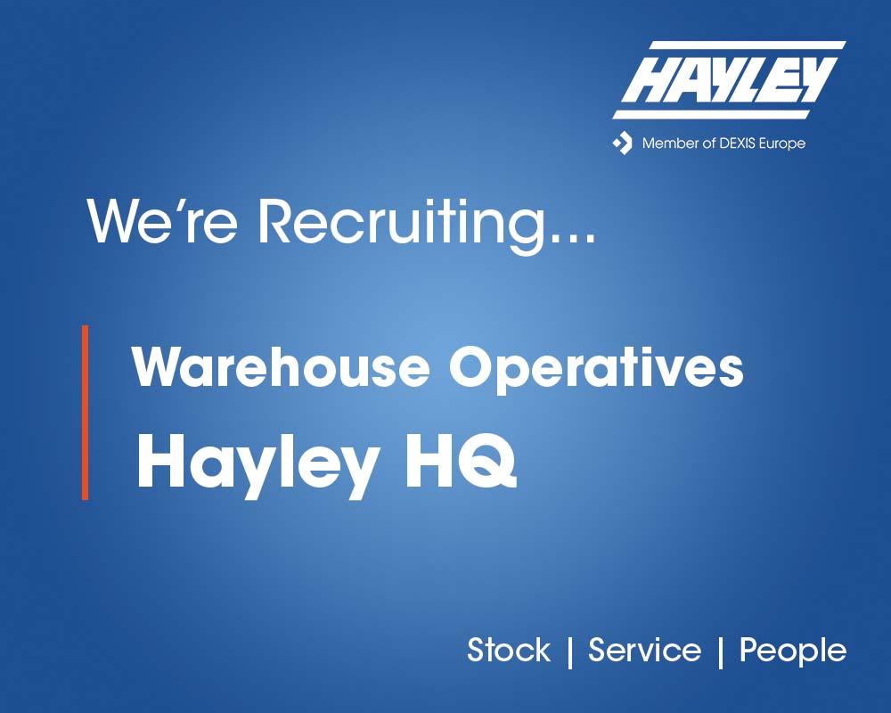 Warehouse Operatives Hayley HQ